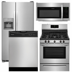 Package 14 - Frigidaire Appliance Package - 4 Piece Appliance Package with Gas Range - Stainless Steel