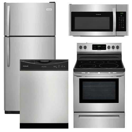 Kitchenaid 4 Piece Kitchen Appliance Package With Electric: Frigidaire Appliance Package
