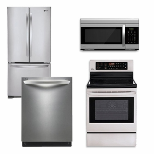 Package 2 Lg Appliance Package 4 Piece Appliance Package With Electric Range Stainless Steel