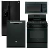 Package 24 - GE Appliance Package - 4 Piece Appliance Package with Gas Range - Black