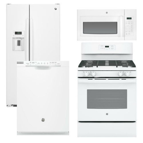 Package 26 Ge Appliance Package 4 Piece Appliance Package With Gas Range White