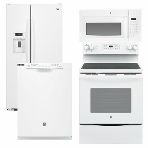 Package 27 - GE Appliance Package - 4 Piece Appliance Package with Electric Range - White