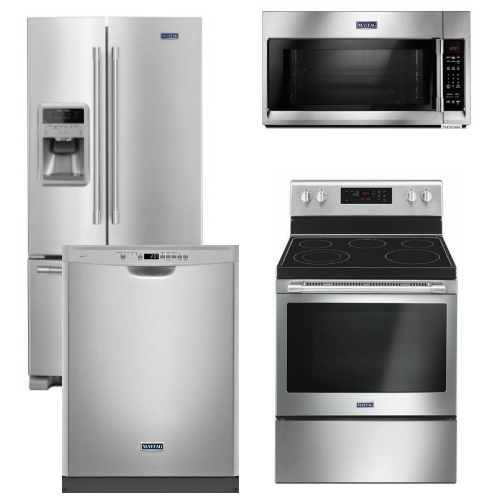 Kitchenaid 4 Piece Kitchen Appliance Package With Electric: Maytag Appliance Package