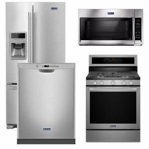 Package 29   Maytag Appliance Package   4 Piece Appliance Package With Gas  Range   Stainless Steel