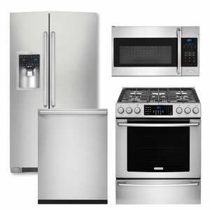 Package 31 - Electrolux Appliance Package - 4 Piece Appliance Package with Gas Range - Stainless Steel