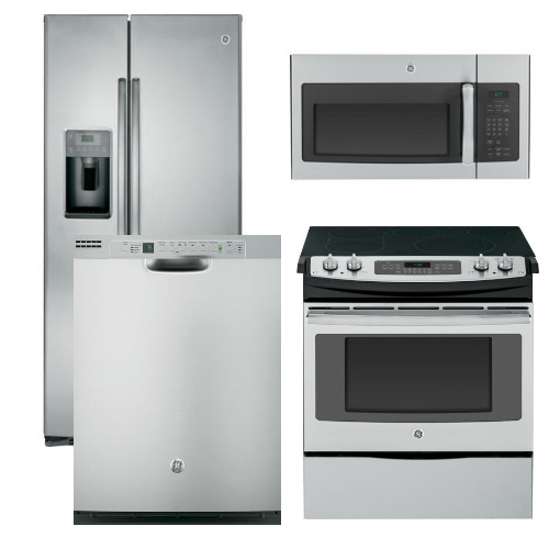 Package 6   GE Appliance Package   4 Piece Appliance Package With Electric  Slide In Range