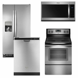 Package 7 - Whirlpool Appliance Package - 4 Piece Appliance Package with Electric Range - Stainless Steel