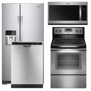 'Package 7 - Whirlpool Appliance Package - 4 Piece Appliance Package with Electric Range - Stainless Steel' from the web at 'https://sep.yimg.com/ay/usappliance/package-7-whirlpool-builder-s-special-package-4-piece-appliance-package-stainless-steel-electric-68.jpg'