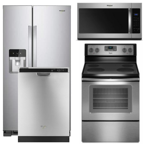 'Package 7 - Whirlpool Appliance Package - 4 Piece Appliance Package with Electric Range - Stainless Steel' from the web at 'https://sep.yimg.com/ay/usappliance/package-7-whirlpool-builder-s-special-package-4-piece-appliance-package-stainless-steel-electric-69.jpg'