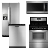 Package 8 - Whirlpool Appliance Package - 4 Piece Appliance Package with Gas Range - Stainless Steel