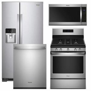 8 - Whirlpool Appliance Package - 4 Piece Appliance Package with Gas ...