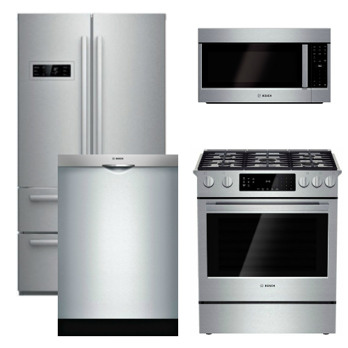 Kitchenaid 4 Piece Kitchen Appliance Package With Electric: Microwave Counter Depth