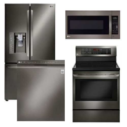 package lgbd1   lg appliance package   4 piece appliance package with electric range   black kitchen packages electric  rh   us appliance com