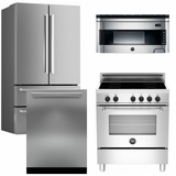 Package Bert2 - Bertazzoni Appliance Package - 4 Piece Luxury Package with Induction Range - Stainless Steel