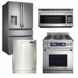 "Package D1 - Dacor Appliance Kitchen Package with Dual Fuel 30"" Range - Stainless Steel"
