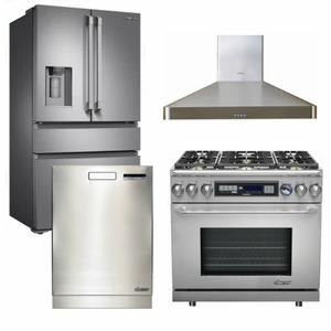 "Package D2 - Dacor Appliance Kitchen Package with Dual Fuel 36"" Range - Stainless Steel"