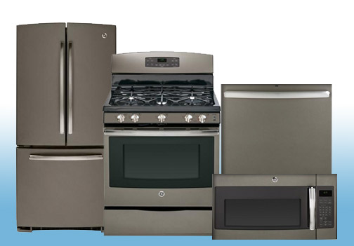 Package FD20 - GE 4 Piece Appliance Package - Gas - Includes Free Dishwasher - Slate