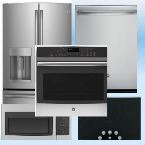 Package FD62 - GE Appliance Package - 5 Piece Appliance Package - Includes Free Dishwasher - Stainles Steel - Electric