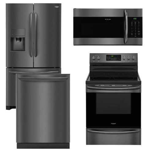 Package FGBS1 - Frigidaire Appliance Package - 4 Piece Appliance Package with Electric Range - Black Stainless Steel