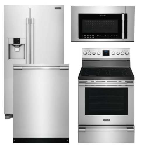 Kitchenaid 4 Piece Kitchen Appliance Package With Electric: Frigidaire Appliance Professional Package