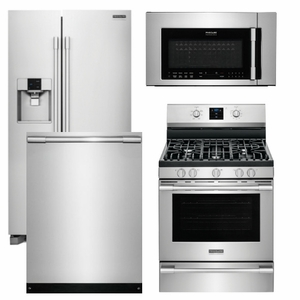 Package FP2 - Frigidaire Appliance Professional Package - 4 Piece Appliance Package with Gas Range - Stainless Steel