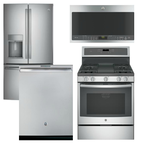Package GEP2 - GE Profile Appliance Package - 4 Piece Appliance Package with Gas Range - Staineless Steel