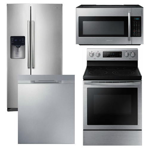 Kitchenaid 4 Piece Kitchen Appliance Package With Electric: Samsung Appliance Package
