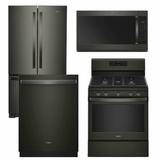 Package WPBS2 - Whirlpool Appliance Package - 4 Piece Appliance Package with Gas Range - Black Stainless Steel