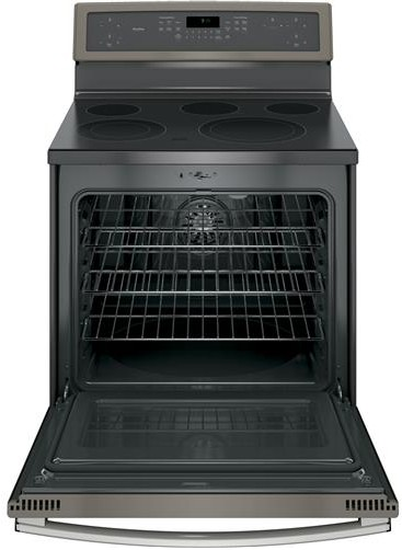 """PB911EJES GE Profile Series 30"""" Free-Standing Electric Convection Range with Edge-to-edge Cooktop - Slate"""