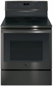 "PB911FJDS GE Profile Series 30"" Free-Standing Electric Convection Range with Edge-to-edge Cooktop - Black Slate"
