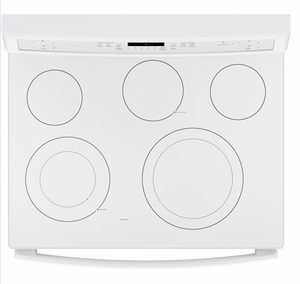 """PB911TJWW GE Profile Series 30"""" Free-Standing Electric Convection Range with Edge-to-edge Cooktop - White"""