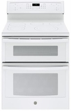 """PB960TJWW GE Profile Series 30"""" Free-Standing Electric Double Oven Convection Range with Edge-to-edge Cooktop - White"""