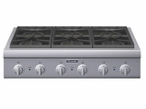 "PCG366G Thermador 36"" Pro Gas Cooktop 6 Burners - Stainless Steel"