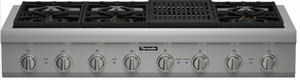 """PCG486NL Thermador 48"""" Professional Series Rangetop with (6) Burners & Grill - Stainless Steel"""