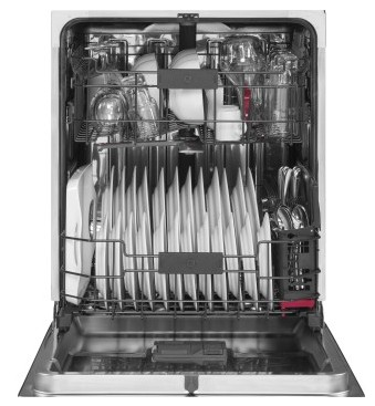 "PDF820SGJBB GE 24"" Profile Series Dishwasher with Front Controls and Bottle Jets - Black"