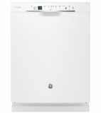 "PDF820SGJWW 24"" GE Profile Series Dishwasher with Front Controls and Bottle Jets - White"