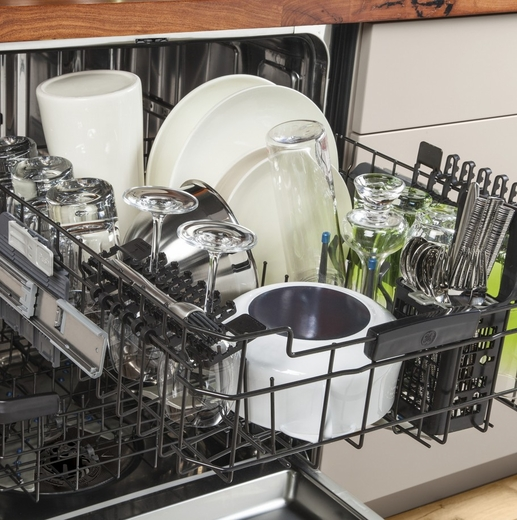 Pdt750ssfss Ge Stainless Steel Interior Dishwasher With Hidden Controls Stainless Steel