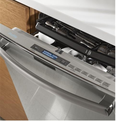 Pdt760ssjss Ge Profile Series Stainless Steel Interior Dishwasher With Hidden Controls