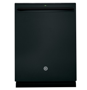 "PDT825SGJBB GE 24"" Profile Series Stainless Steel Interior Dishwasher with Hidden Controls and Hidden Vent - Black"