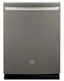 "PDT845SMJES GE 24"" Profile Series Stainless Steel Interior Dishwasher with Hidden Controls - Slate"