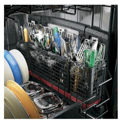 "PDT845SSJSS GE 24"" Profile Series Stainless Steel Interior Dishwasher with Hidden Controls - Stainless Steel"
