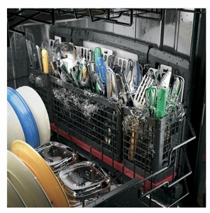 "PDT845SSJSS GE 24"" Profile Series Stainless Steel Interior Dishwasher with Hidden Controls - Stainless Steel - CLEARANCE"