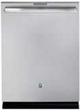 "PDT846SSJSS GE 24"" Built In Fully Integrated Dishwasher with 7 Wash Cycles and 16 Place Settings - Stainless Steel"