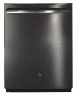 """PDT855SBLTS GE 24"""" Profile Series Stainless Steel Interior Dishwasher with Hidden Controls and Wi-Fi Connect - Black Stainless Steel - CLEARANCE"""