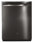 "PDT855SBLTS GE 24"" Profile Series Stainless Steel Interior Dishwasher with Hidden Controls and Wi-Fi Connect - Black Stainless Steel"