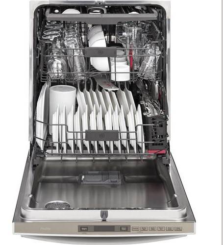 "PDT855SSJSS 24"" GE Profile Series Stainless Steel Interior Dishwasher with Hidden Controls and Wi-Fi Connect - Stainless Steel"