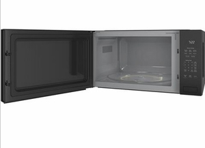 "PEB7227DLBB GE 24"" Profile Series 2.2 cu. ft. Built-In Microwave with Control Lockout and Sensor Cook - Black"