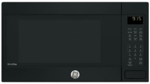 "PEB9159DJBB GE 22"" Profile Series 1.5 cu. ft. Countertop Convection Microwave Oven with 1,000 Watts and 10 Power Levels - Black"