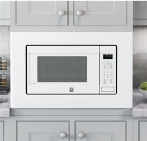 "PEB9159DJWW GE 22"" Profile Series 1.5 cu. ft. Countertop Convection Microwave Oven with 1,000 Watts and 10 Power Levels - White"