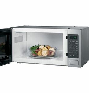 "PEM31SFSS GE 24"" Profile 1.1 Cu. Ft. Countertop Microwave with Sensor Cooking and Kitchen Timer - Stainless Steel"